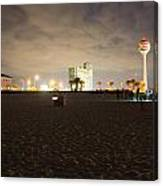 Pensacola Beach At Night Canvas Print