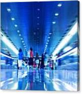 People Rush In Subway Canvas Print