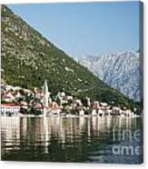 Perast In Kotor Bay Montenegro Canvas Print
