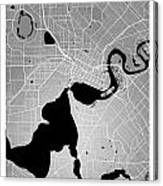 Perth Street Map - Perth Australia Road Map Art On Colored Backg Canvas Print