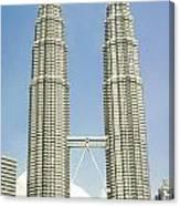 Petronas Twin Towers In Malaysia Canvas Print