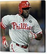 Philadelphia Phillies V Los Angeles Canvas Print