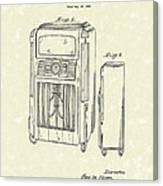Phonograph Cabinet 1938 Patent Art Canvas Print
