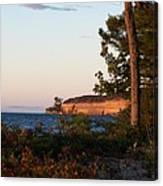 Pictured Rocks At Sunset Canvas Print