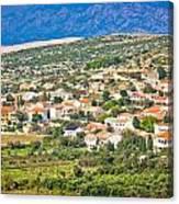 Picturesque Mediterranean Island Village Of Kolan Canvas Print
