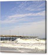 Pier At Nags Head  Canvas Print