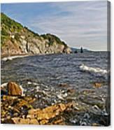 Pillar Rock In Cape Breton Highlands Np-ns Canvas Print