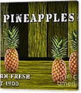 Pineapple Farm Canvas Print