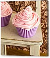 Pink Cupcakes Canvas Print