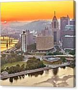 Pittsburgh Sunrise Panorama Canvas Print