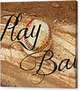 Play Ball Canvas Print
