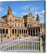 Plaza De Espana In Seville Canvas Print