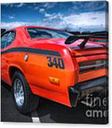 Plymouth Duster 340 Canvas Print
