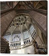 pointed vault of Saint Barbara church Canvas Print