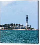Pompano And The Hillsboro Inlet Lighthouse Canvas Print