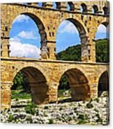 Pont Du Gard In Southern France Canvas Print