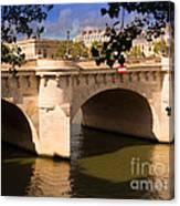 Pont Neuf Over The Seine River Paris Canvas Print