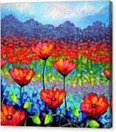 Poppy Vista Canvas Print