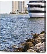Port Of Miami Canvas Print