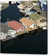 Portage Bay And Houseboats, Seattle Canvas Print