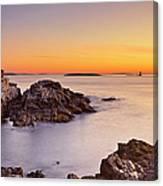 Portland Head Lighthouse, Maine, Usa At Canvas Print