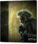 Portrait Of The Homeless Canvas Print