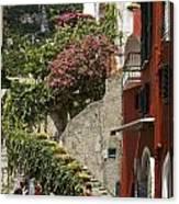 Positano Street Scene Canvas Print