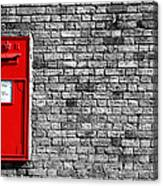 Post Box Canvas Print