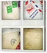 Postal Still Life Canvas Print