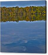 Fall Colors And Cumulous Clouds Canvas Print