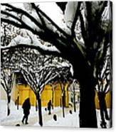 Prague Winter  Canvas Print