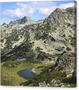 Prevalski And Valyavishki Lakes Pirin National Park Bulgaria  Canvas Print
