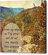 Psalm 119 133 Canvas Print