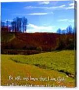 Psalm 46 10 Canvas Print