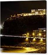 Puerto De La Cruz By Night Canvas Print