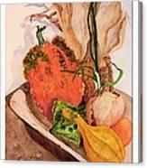 Pumpkin In Bowl Canvas Print