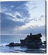 Pura Tanah Lot Temple At Sunset In Bali  Canvas Print