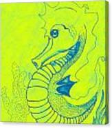 Q-t The Purdiest Seahorse Canvas Print