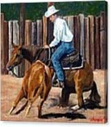 Quarter Horse Cutting Horse Canvas Print