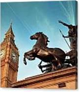 Queen Bodica Statue In London Canvas Print