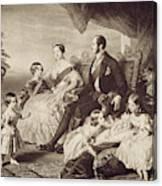 Queen Victoria & Family Canvas Print
