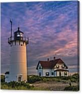 Race Point Lighthouse Sunset Canvas Print