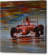 Racing Car Canvas Print
