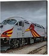 Rail Runner Locomotive Canvas Print