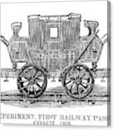 Railroad Passenger Car Canvas Print