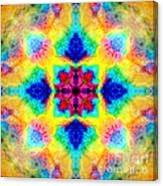 Rainbow Light Mandala Canvas Print