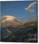 Rainier Capped Canvas Print