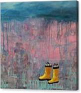 Rainy Day Galoshes Canvas Print