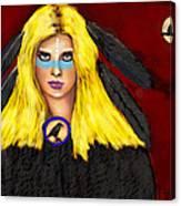 Raven Yellow Hair Canvas Print