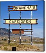 Rawlins Wyoming - Grandma's Cafe Canvas Print